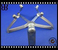 V shape single button stainless metal steel tube spring clip
