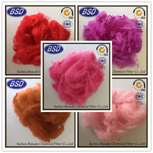 recycled polyester staple fibre, colored recycle psf for blanket in china/mattress/leather/print fabrics