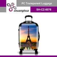picture printing abs/pc durable luggage