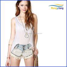 latest new fashion sexy girls knitted sleeveless top