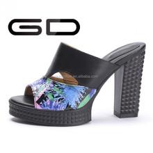 2015 Fashion platform flip flops shoes Women wedges sandals high heel beach slippers wear-resistant slip-resistant