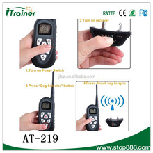 Aetertek cheapest product AT-219 remote vibrating dog training collar designer pet products
