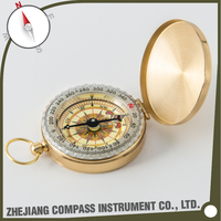 High quality brass engraved pocket compass for promotional gift