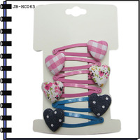 4.5cm Metal Hair Clip With Plastic Pendent