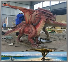 Entertainment animatronic realistic western dragon