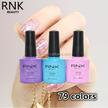 RNK China professional uv gel factory nail art decorations gel polish with MSDS certificate support
