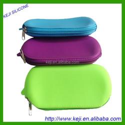 Wholesale candy color The silicone bag change purse silica gel pen bag zipper Glasses bag