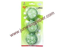 Different quantity blister card packing colorful paper cup cake case