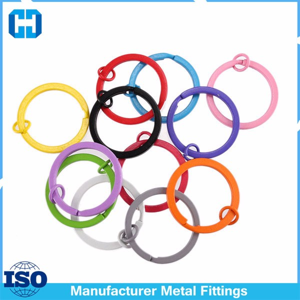 colorful split key ring