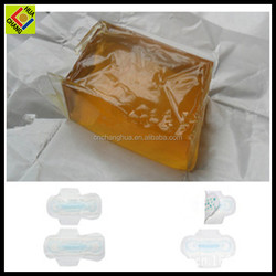 Yellow Resin block Hot Melt Adhesive for Sanitary Towel