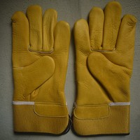 cow full-grain leather truck drivers driving gloves, safety and protective gloves for drivers