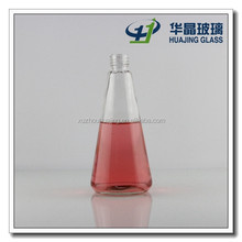 Cone shaped 150ml empty glass aroma diffuser bottle with screw neck