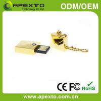 Metal mini USB/crystal drill USB flash memory