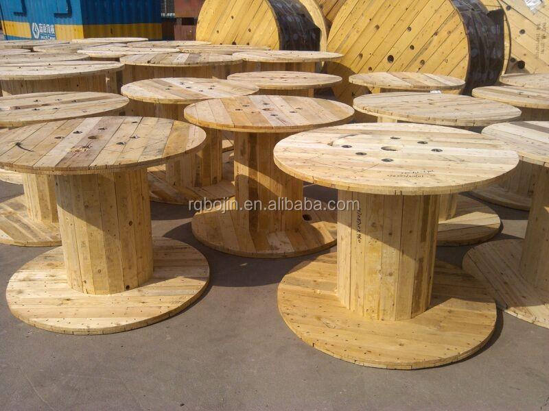 beau bobine de fil electrique en bois #1: transformer malle en