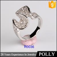 Factory Direct Sale Latest Design Alphabet Wedding Ring