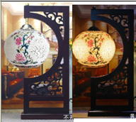 Chinese antique porcelain desk lamp
