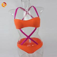 Hot sex china bikini girl photos contrast strap neon young girl bikini