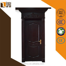 Aibaba china solid wood frame/architrave custom solid wooden door for room