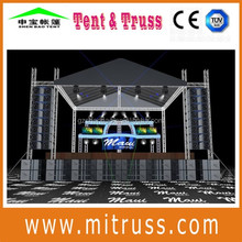 useful portable mini aluminium truss flexible indoor and outside stage truss system mobile stage pipe and drape