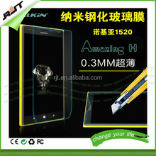 Waterproof Extremely Smooth Tempered Glass Screen Protector for Nokia Lumia 1520,High Clear Screen Protector