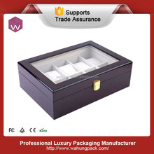 Luxury Lacquered MDF Wooden 10 slot Wrist Watch box (WH-S-028-JP)
