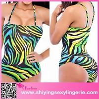 Green Shades Print 2015 victoria one-piece monokini swimsuit hot micro bikini for girls