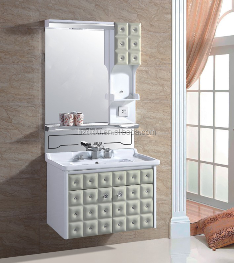 2door pvc plastic waterproof bathroom cabinet with diamond for Waterproof bathroom cabinets
