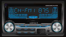 car mp3 radio player USB player GB-868 Fixed panel Auto seek/Auto Store stations USB/SD/MMC for MP3/WMA/ID3/WAV AUX in FM record