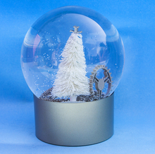 Paint advertising product clear christmas glass ball with snow