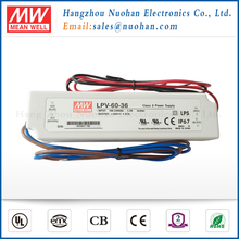Meanwell 60w 36v led driver/36v waterproof led driver ip67/60w constant voltage led driver