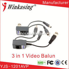 simple installation 1 ch balun transmitter Used for security video balun transformer