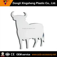 3D chrome cow emblem badge decal car sticker decoration plastic