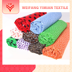 New Products On China Market Cotton Dots Printed Muslin Fabric