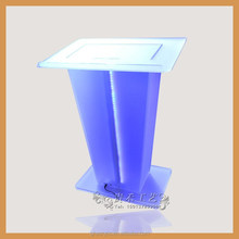 Clear Acrylic Lectern / Podium pulpit with assorted colors LED light