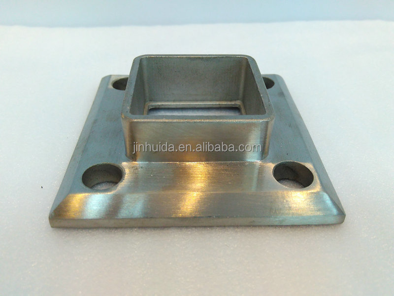 Floor Mounted Tube Flange Square Shape Stainless Steel