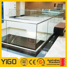 Rambarde en verre trempé/balustrade en verre sans cadre