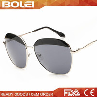 2015 fashionable eyebrows mirror metal sunglasses