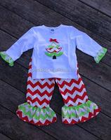 Hot Sale Christmas Day High Quality Children Boutique Clothing Set Usa Wholesale Children Boutique Clothing