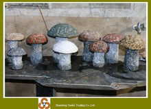 garden decorative stone colored mushroom carving
