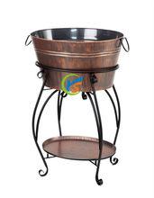 Metal beer cooler with stand/ice bucket