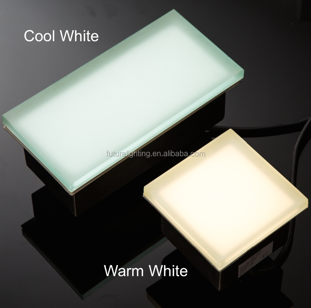 lighting effective of warm white and cool white led brick tile light