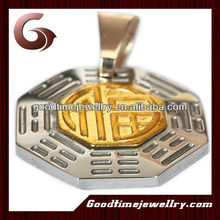 custom 316L stainless steel jewelry cheap anti radiation pendant