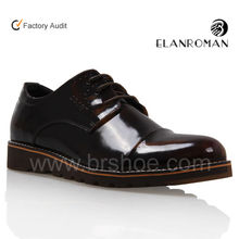 smooth-box leather platform shoes on wholesaling