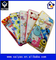 New Arrival Metal Phone bumper case with plastic cartoon back cover case for Samsung Galaxy Note 4