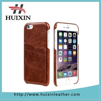 Genuine leather case ultra slim 2 card slots leather case back cover