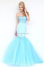 New Arrival Sweetheart Beaded Formal Evening Dresses Floor Length Mermaid Evening Gown Turquoise Long Prom Party Dress 2015
