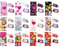 Pink Heart In Blue Flip Leather Case for Samsung Galaxy S5 i9600
