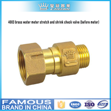 4003 brass water meter stretch and shrink check valve