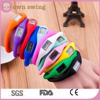 Hot Sale Unisex Sports Digital Silicone Rubber Jelly Anion Bracelet Wrist Watch