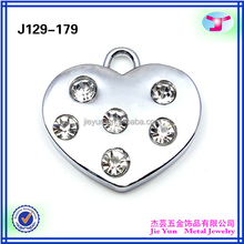 Wholesale Metal Apparel Tags and Labels in Diamond Heart Shape
